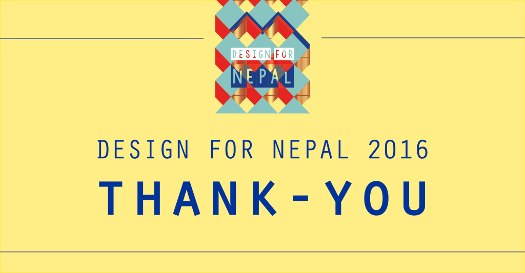 DESIGN FOR NEPAL - THANK YOU - sito